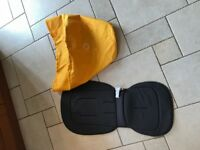 Bugaboo Bee yellow hood and grey seat liner. Buggy Pram not icandy new condition Genuine items