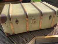 Vintage Ex. Naval Travel Trunk