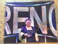 Ginette Reno bundle autographs + wire photo