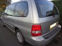 2003 1 owner 7 seater kia sedona+£60 diesel+towbar HAS A WATER LEAK ON PIPE STILL RUNS N DRIVES WELL
