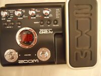Zoom G2.1u Multi-Effect Pedal with Power Supply