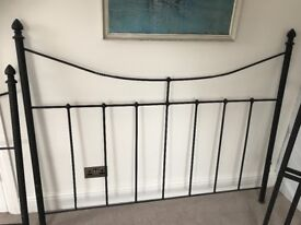 Cast Wrought iron queen size bed frame.