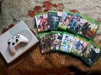 XBOX ONE S CONSOLE 500GB WITH 10 GAMES (OPEN TO OFFERS)