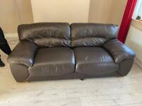 Large Three Seater Leather Sofa for sale