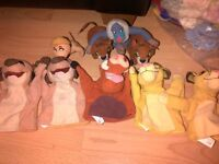 LION KING HAND PUPPETS WITH TEDDIES