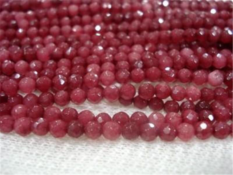 """6mm Brazil Faceted Red Ruby Round Gems Loose Beads 15"""""""