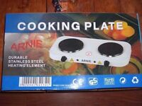 New Unused Electric 'ARNIE' Two Ring Cooking Plate/Hob