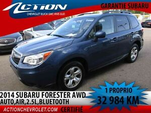 2014 SUBARU FORESTER 2.5I AWD,AUTO,AIR,BLUETOOTH