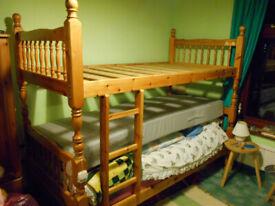 BUNK BEDS in Honey PINE