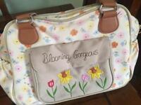 Pink lining baby change bag