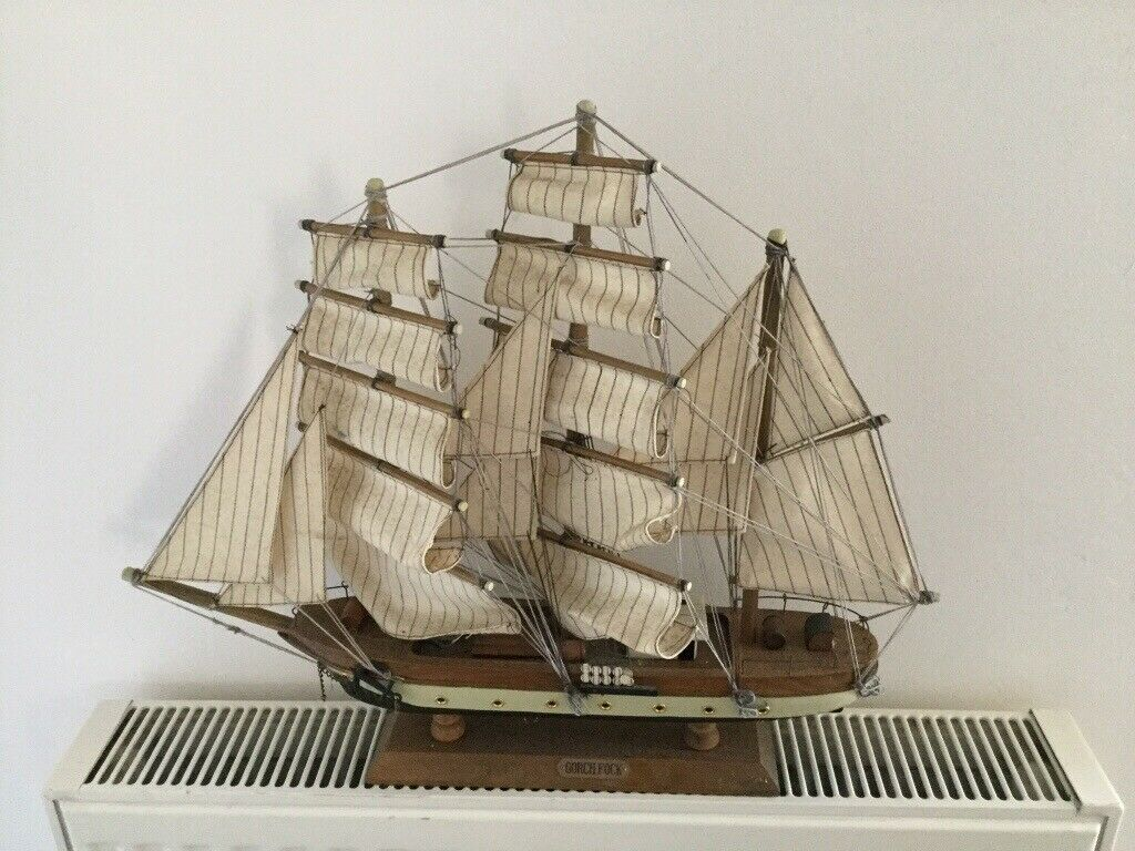 Two Beautiful Vintage Wooden Model Ships With Canvas Sails Mayflower And Gorch Fock In Lower Earley Berkshire Gumtree