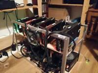 Mining Rig 5x Asus RX480 Strix 8Gb 149Mh