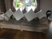 2 x 3 seater sofas from furniture village