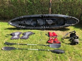 Double Kayak and accessories for sale