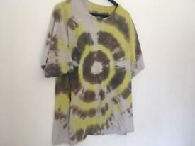Tie dye green hippy t shirt
