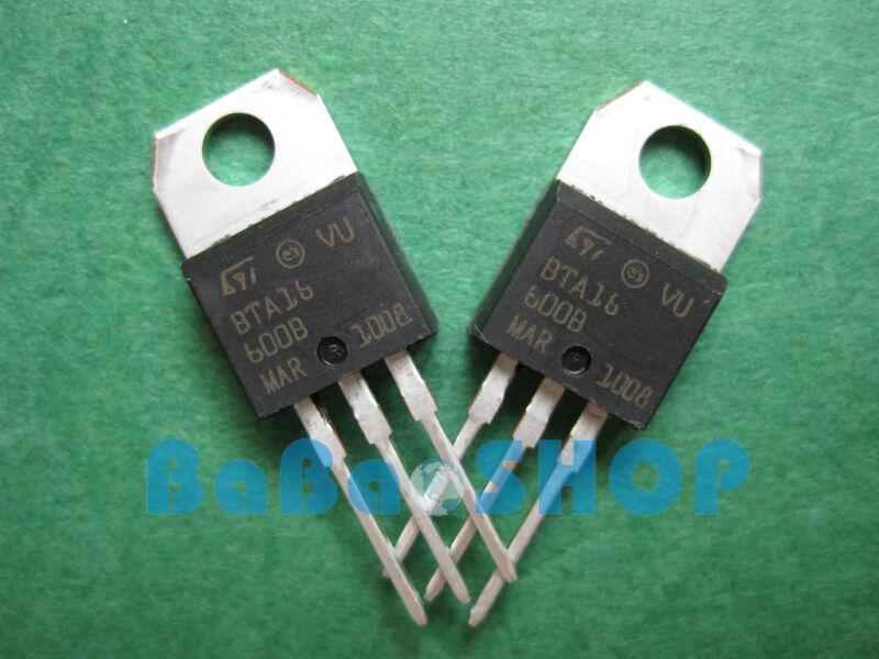 30pcs New BTA16-600B BTA16-600 BTA16 TRIAC SGS-THOMSON 600V 16A TO-220