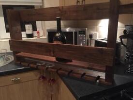 Rustic Handmade Items - Wine/Bottle Holder - Shelfs etc