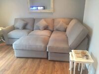 Corner Sofa Grey - Immaculate - Almost brand new!