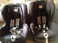 Selling two britax isofix duo plus car seats with top teether