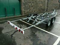 New galvanized roller boat trailer to suit 7.5-8M boat / Rib.