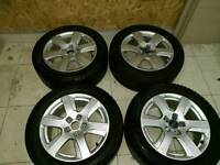 Genuine audi alloy wheels 17 inch with winter tyres