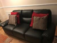 3 seater sofa black