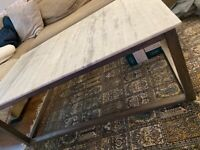 French Connection Marble Coffee Table