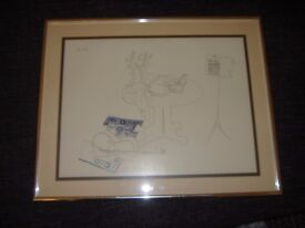 Picture frame and drawing Art by Millicent Tomkins violin Guitar £ 20.00