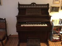 Old harmonium in need of bellow attention otherwise in good condition for its age