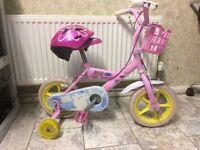 KIDS GIRLS CHILDREN PEPPA PIG BEGINNERS BIKE AGES 1-5 WITH HELMET AND STABILISERS BICYCLE for sale  London