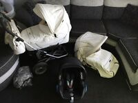Emmaljunga leather pram