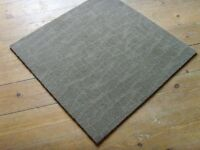 Cheap Carpet tiles, beige, blue or green just 90 pence each