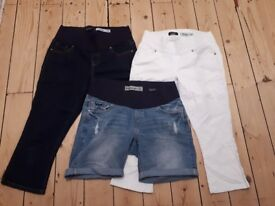 Size 10 - 3 x NEW LOOK Maternity cropped jeans / shorts