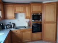 Quality Tiffany kitchen units with solid alder door frames and veneered panels