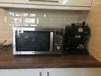 Microwave & Expresso machine almost new for sale