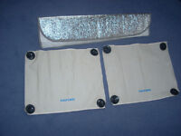 Aluminium Windscreen Sun Protector/ and 2 smaller ones.
