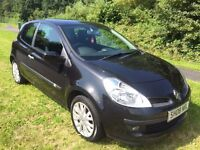 CLIO 1.2 DYNAMIQUE 08 REG 3 DOOR IN PHANTOM BLACK, 1 OWNER AND FULL SERVICE HISTORY WITH MOT JUNE 17