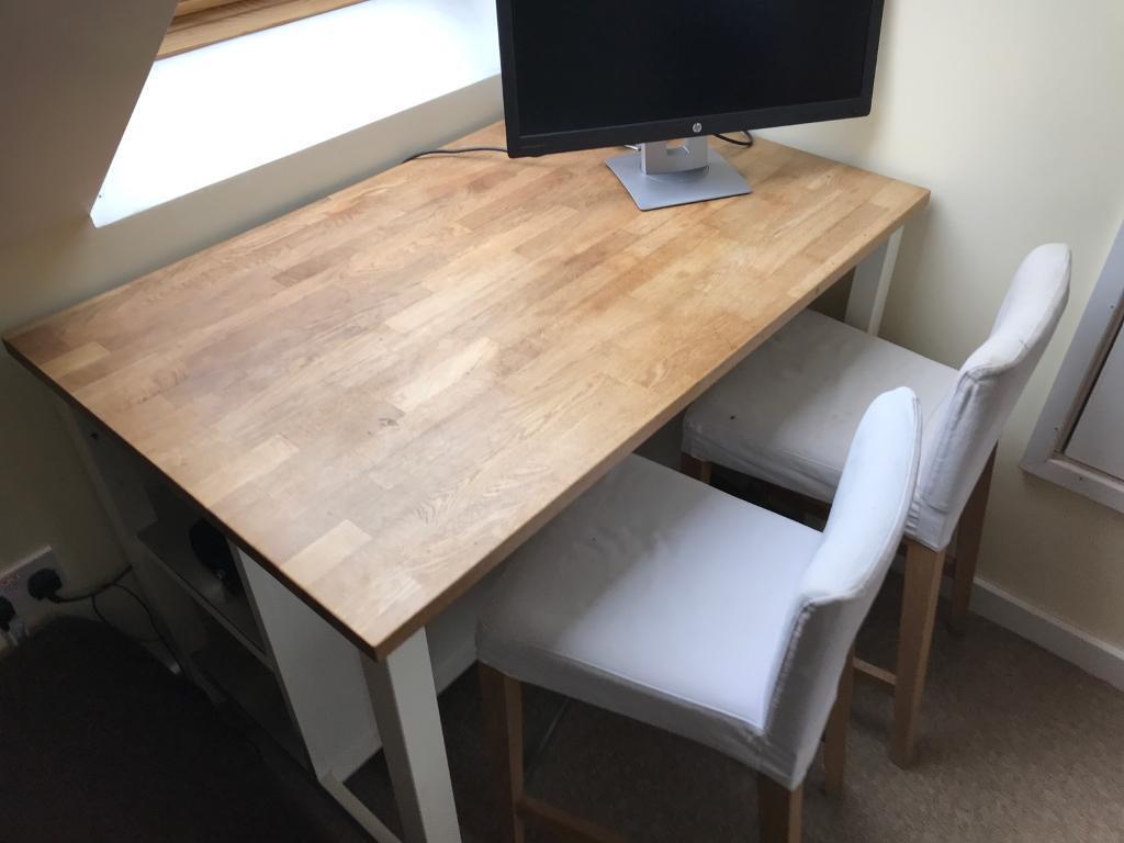 a430498509f8 Ikea Stenstorp oak breakfast bar and matching stools   in Norwich ...
