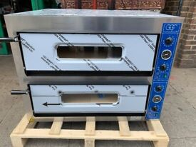 """NEW ITALIAN 2 DECK PIZZA OVEN 8X 13"""" CATERING COMMERCIAL KITCHEN FAST FOOD SHOP BBQ"""