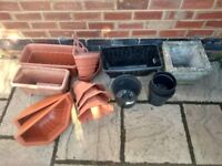 Various garden pots for sale.