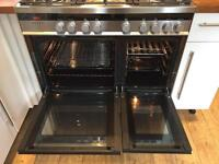Dual fuel 90cm range cooker ONLY 1 year old!!!
