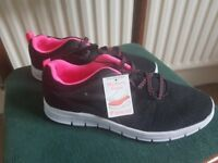 New with Tags Still attatched - Black and Pink Trainers - Lightweight Exercise Trainers