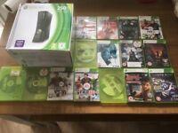 Xbox 360 250 gb bundle plus 15 games