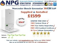 SUPPLIED & FITTED Worcester Bosch Greenstar 36CDi ErP Combi Boiler £1599 (RRP £4K) LEICESTERSHIRE
