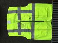 Knee-Down Hi-Viz Reflective Motorcycle Rider Vest / Jacket - Size Large