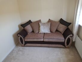 Helix Pillow back foam 3 seater sofa for sale £295. bought new from DFS.Excellent condition