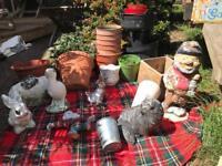Garden pots and ornaments