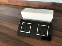 Designer Black Glass Sockets
