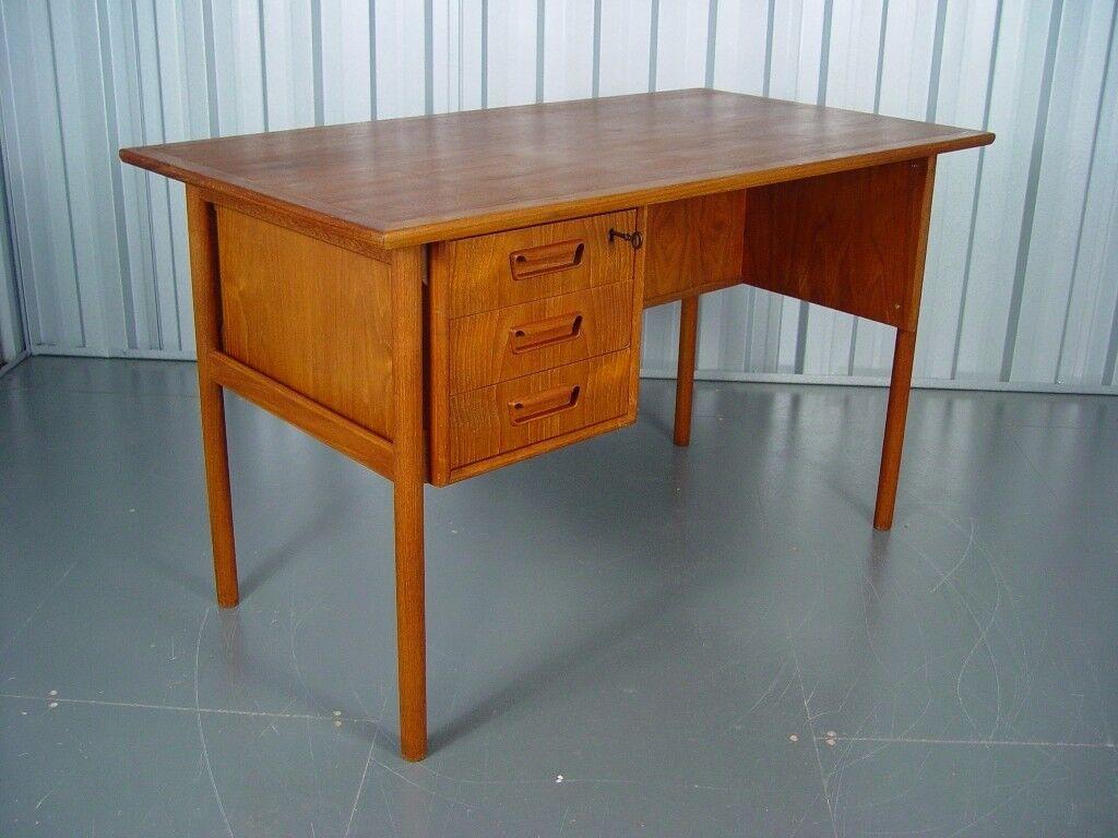 Vintage Tibergaard Danish Teak Desk Retro Mid Century Furniture