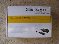 "StarTech USB 3.0 to 2.5""/3,5"" SATA/IDE converter with PSU"
